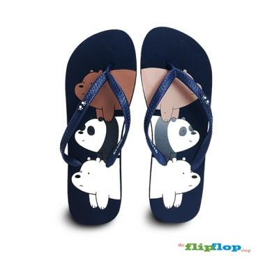 We Bare Bears Flip Flops - 86162